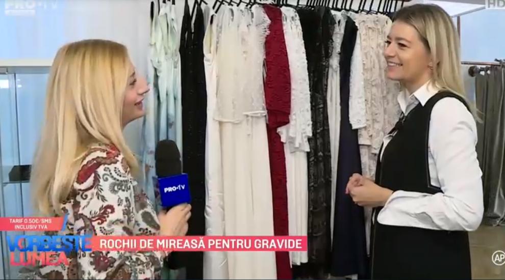 VIDEO Rochii de mireasa pentru gravide prezentate de Corina Știrbei