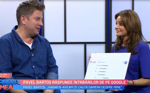 VIDEO Pavel Bartoș răspunde întrebărilor de pe Google