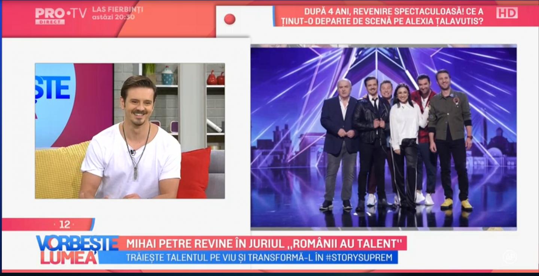 VIDEO Mihai Petre revine în juriul  Românii au talent