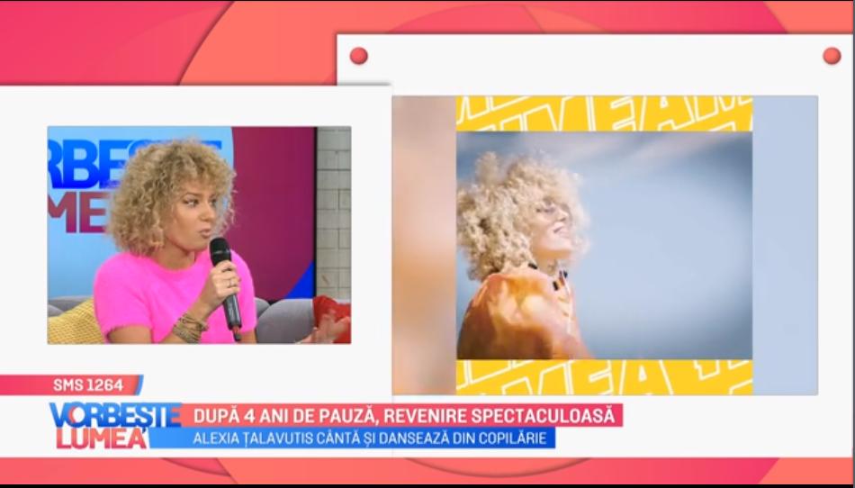 VIDEO Actrița Alexia Țalavutis, revenire spectaculoasă după 4 ani de pauză