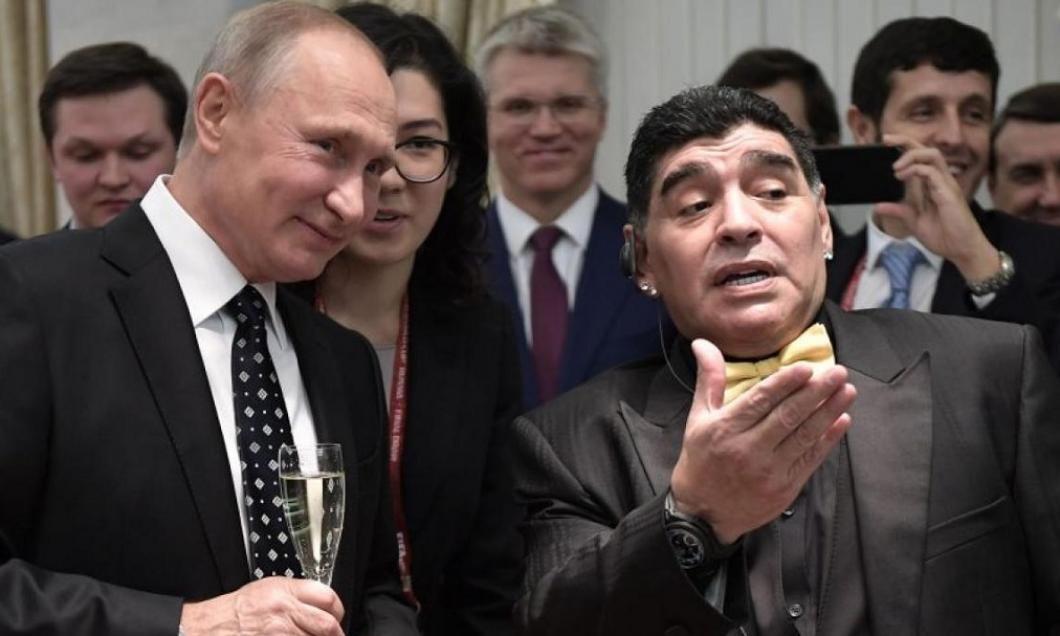 bdquo;Pe bune? Vorbim de Putin aici!  Cum l-a refuzat Maradona pe președintele Rusiei. Cei prezenți au fost siderați