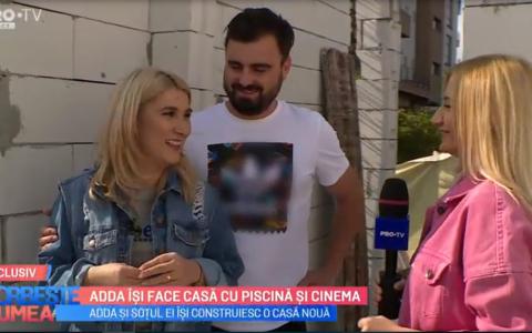 VIDEO Adda își face casă cu piscină și cinema