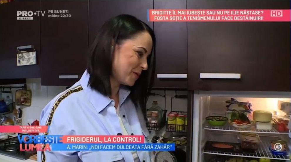 VIDEO Ce alimente are Andreea Marin în frigider