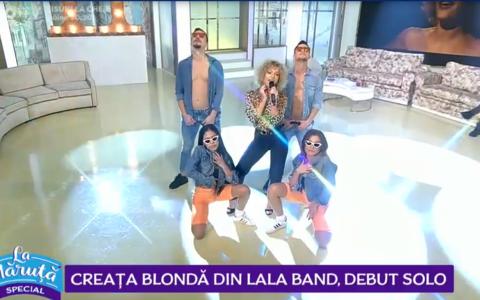 VIDEO Creața blondă din LaLa Band, debut solo