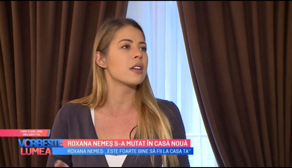 VIDEO Roxana Nemeș s-a mutat la casă nouă