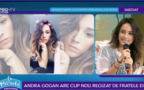 VIDEO Andra Gogan are clip nou, regizat de fratele ei