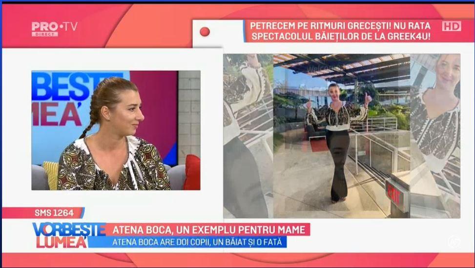 VIDEO Atena Boca, un exemplu pentru mame