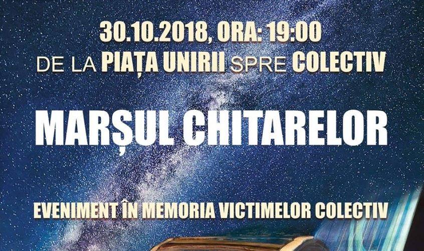 Victimele tragediei Colectiv vor fi comemorate prin  Marșul Chitarelor