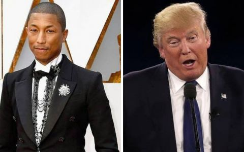 Donald Trump a reușit să-l scoată din sărite până și pe Pharrell. Care e motivul