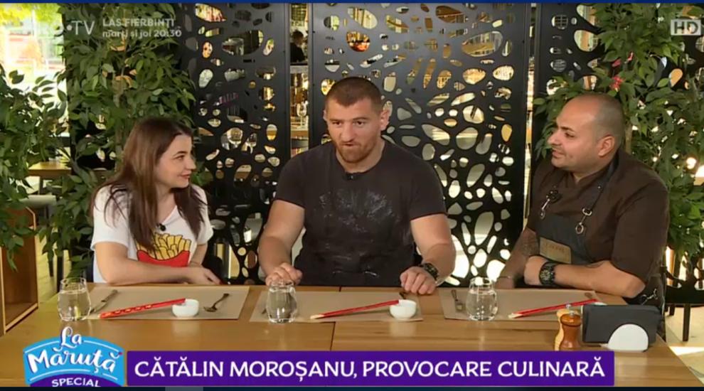 VIDEO Cătălin Moroșanu, provocare culinară