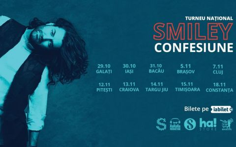Smiley continuă turneul național Confesiune! Imagini în exclusivitate din culisele concertelor