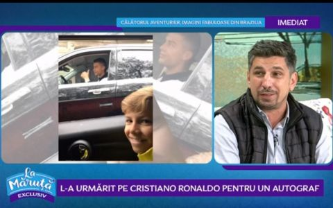 VIDEO Cum l-a urmărit un român pe Cristiano Ronaldo pentru un autograf