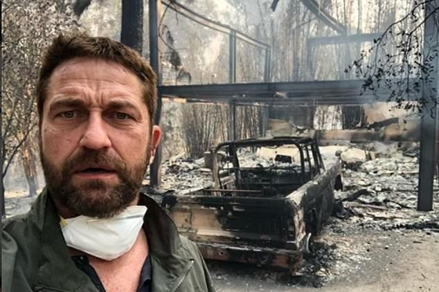 Gerard Butler e devastat. Casa sa din Malibu a ars din temelii