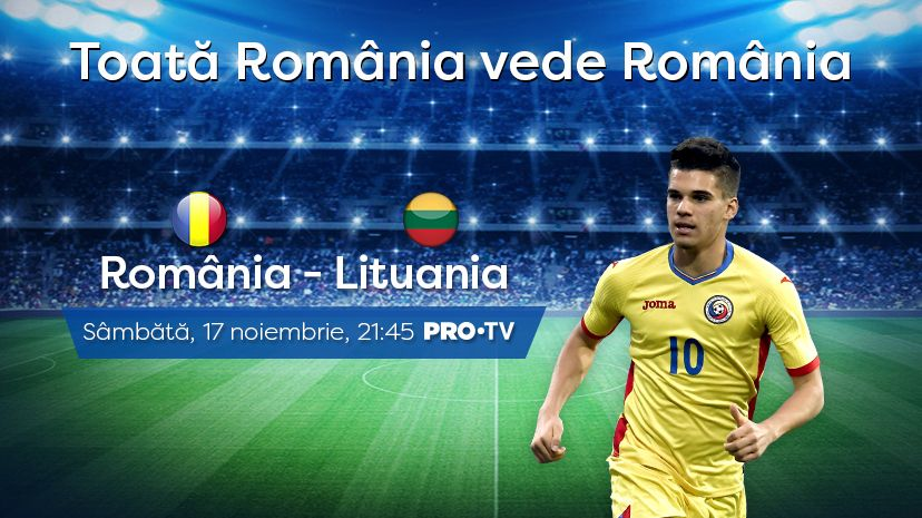 Naționala României joacă ultimele două meciuri ale anului la PRO TV!
