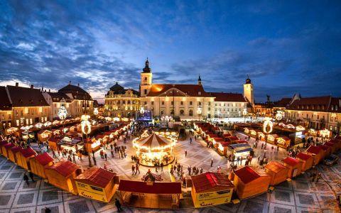 Târgul de Crăciun din Sibiu, locul pe care trebuie să-l admiri măcar din fotografii