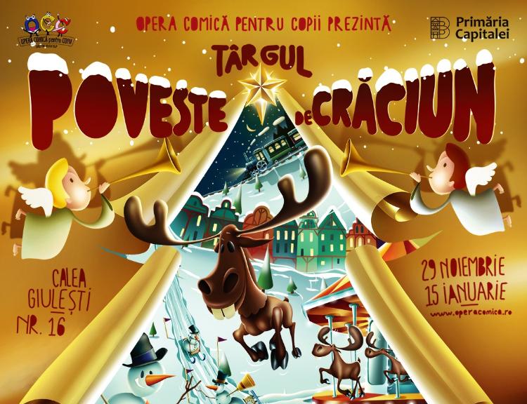 Cel mai frumos cadou: Opera Comică pentru Copii deschide porțile Târgului bdquo;Poveste de Crăciun