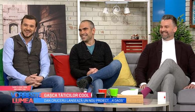 """VIDEO Dan Cruceru lansează un nou proiect """"4 Dads"""""""