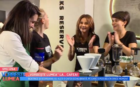 VIDEO Fetele de la  Vorbește Lumea  au învățat să facă mai multe tipuri de cafea