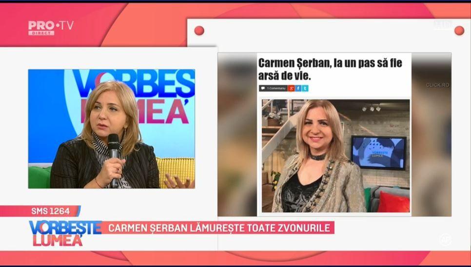 VIDEO Cum comentează Carmen Șerban zvonurile din presă