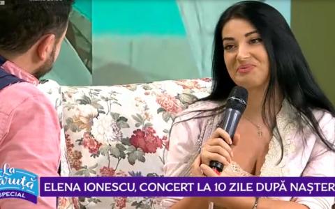 VIDEO Elena Ionescu, concert la 10 zile după naștere