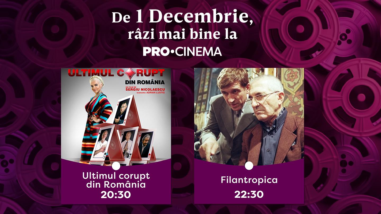 De 1 Decembrie, filme românești de sărbătoare la PRO CINEMA