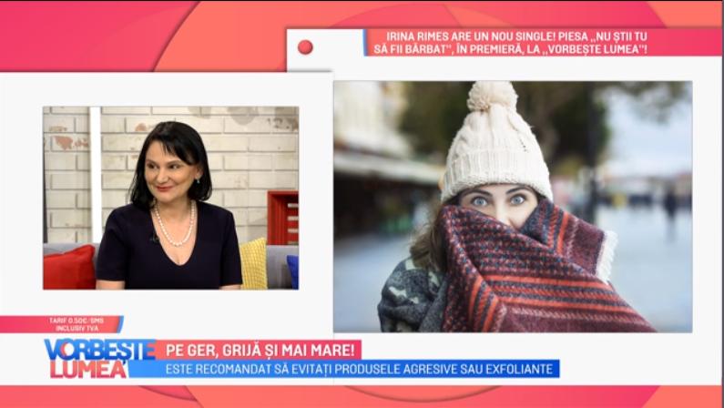 VIDEO Viviana Iordache ne sfătuiește cum să ne protejăm pe timpul sezonului rece