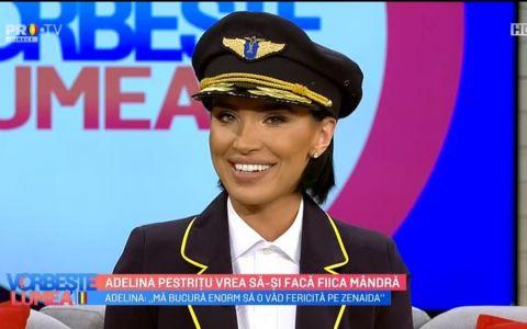 VIDEO Adelina Pestrițu vrea să-și facă fiica mândră