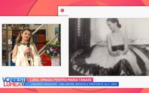 VIDEO Lora, omagiu pentru Maria Tănase