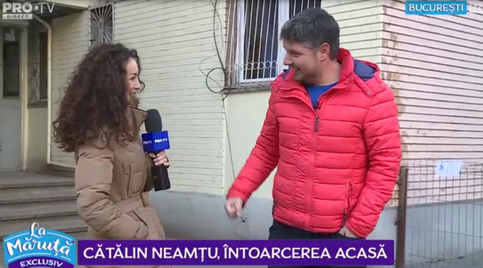 """VIDEO Cătălin Neamțu, întoarecere acasă: """"Vecina de la etajul doi avea obiceiuri ciudate"""""""