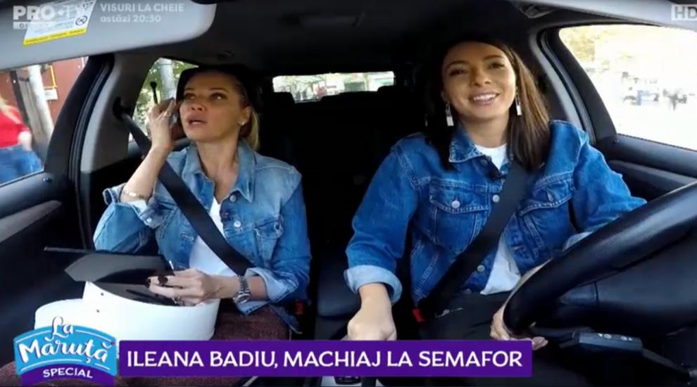 VIDEO Ileana Badiu, machiaj la semafor