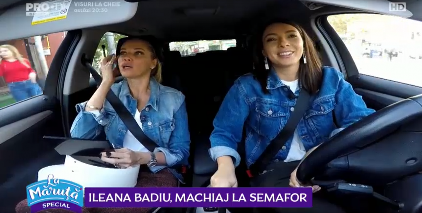VIDEO Ileana Badiu, machiaj la semafor