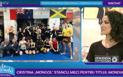 VIDEO Cristina  Mongol  Stancu, meci pentru titlul mondial