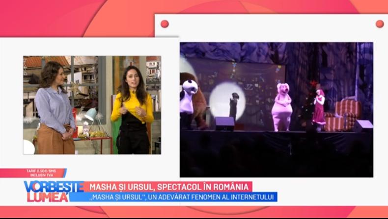 VIDEO Masha și ursul, un nou spectacol în România