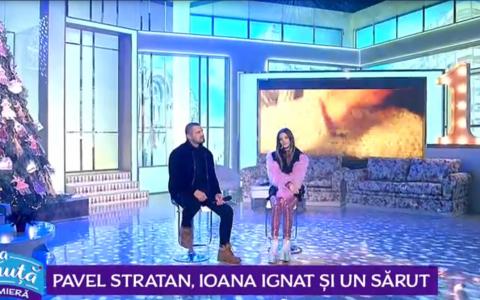 VIDEO Pavel Stratan, Ioana Ignat și un sărut. Colaborare de senzație din partea celor doi artiști