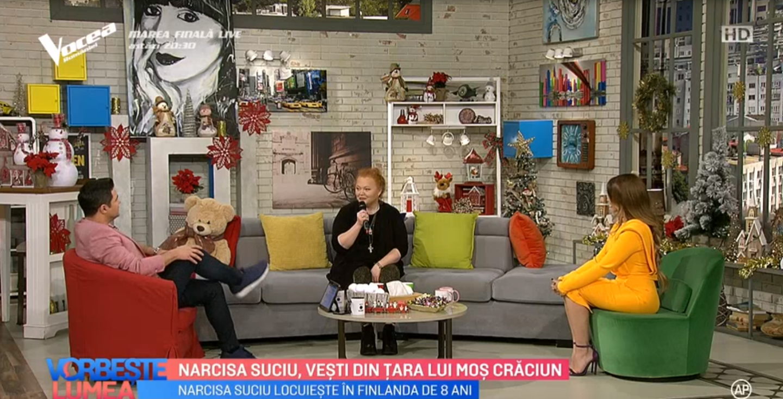 VIDEO Narcisa Suciu, vești din țara lui Moș Crăciun
