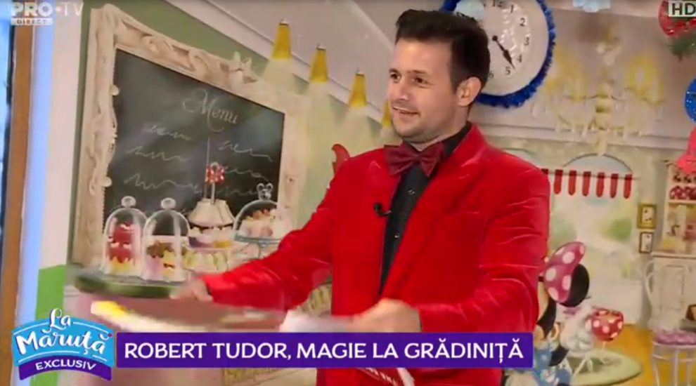 VIDEO Robert Tudor, numere senzaționale de magie