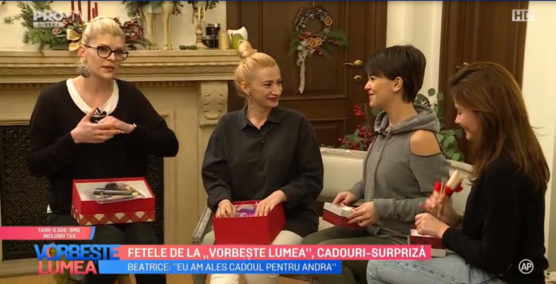"""VIDEO Fetele de la """"Vorbește Lumea"""", cadouri-surpriză"""