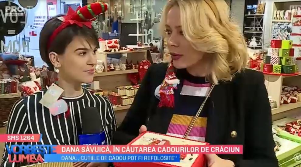 VIDEO Dana Săvuică, în căutarea cadourilor de Crăciun