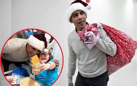 A venit Moș Obama. Fostul președinte american a oferit cadouri unor copii bolnavi