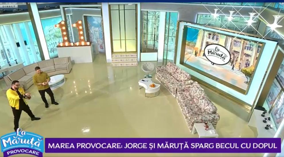 VIDEO Marea provocare: Jorge și Măruță sparg becul cu dopul