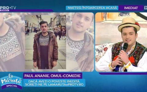 VIDEO Paul Ananie ne-a cântat și încântat cu rime și muzică populară