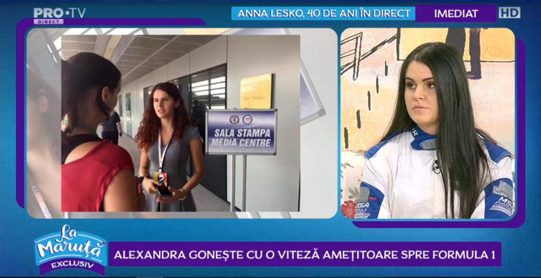 VIDEO Alexandra gonește cu o viteză amețitoare spre Formula 1. Românca l-a cunoscut pe Michael Schumacher