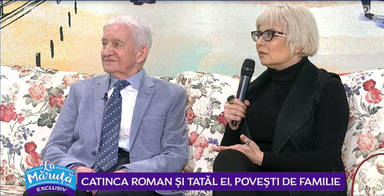 VIDEO Catinca Roman și tatăl ei, povești de familie