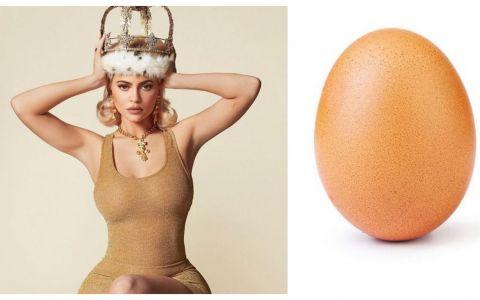 Reacția lui Kylie Jenner, după ce a fost învinsă de un ou pe Instagram