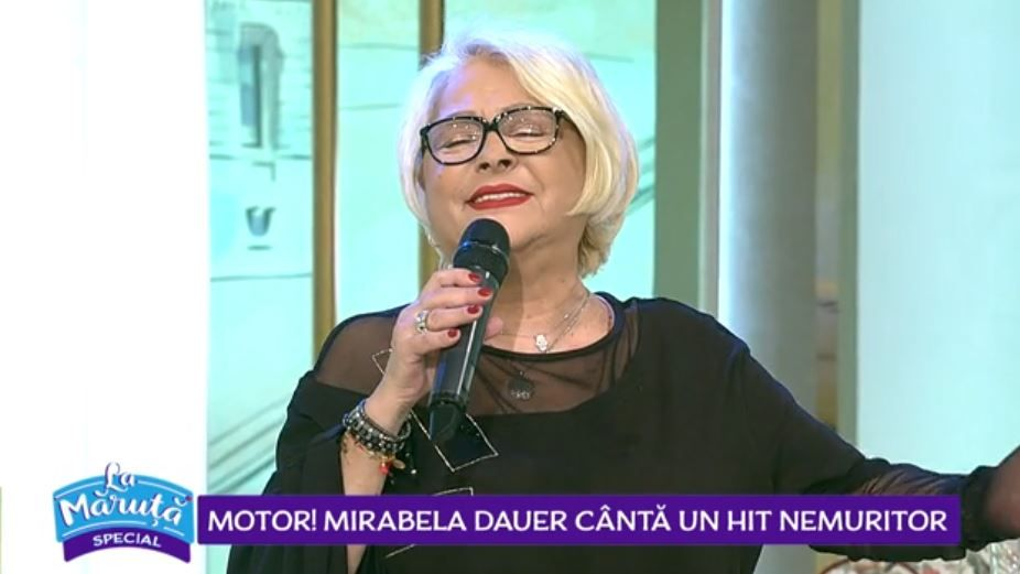 VIDEO Mirabela Dauer cântă un hit nemuritor
