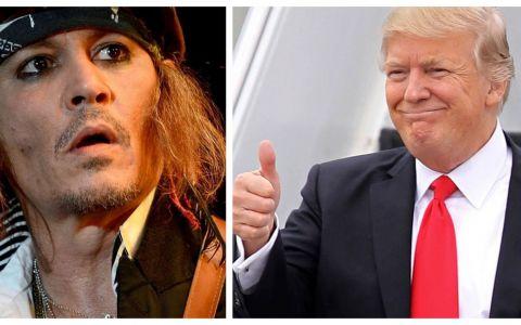 Donald Trump și Johnny Depp, favoriți la câștigarea unui premiu care nu le face cinste