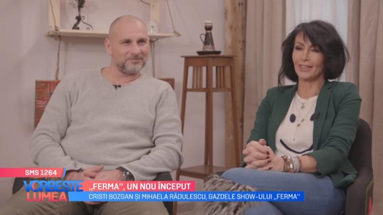 VIDEOCristi Bozgan și Mihaela Rădulescu, gazdele show-ului Ferma