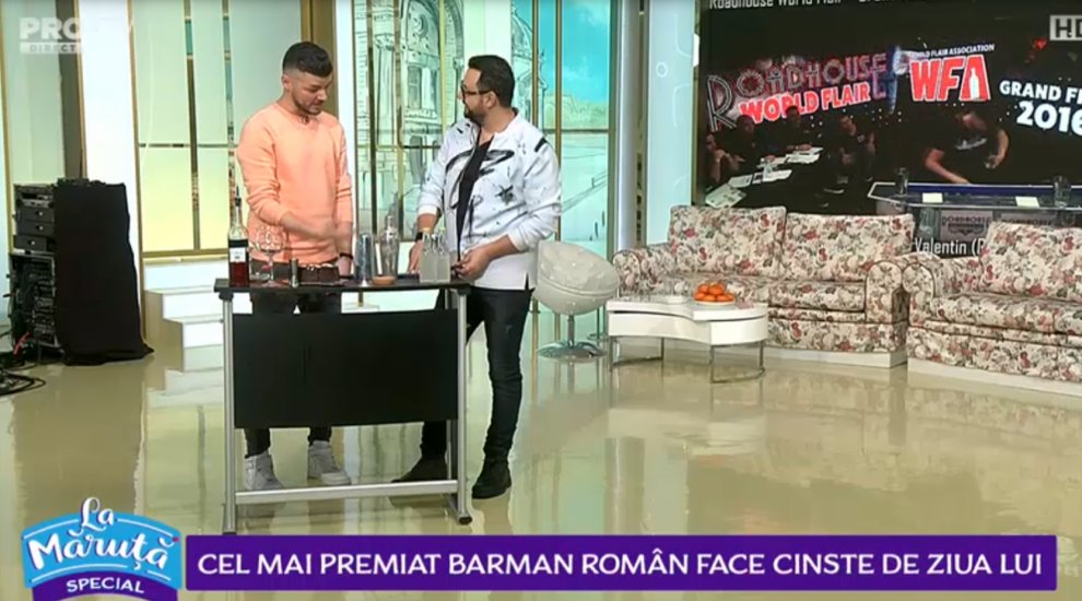 VIDEO Valentin Luca l-a cinstit pe Măruță cu un cocktail