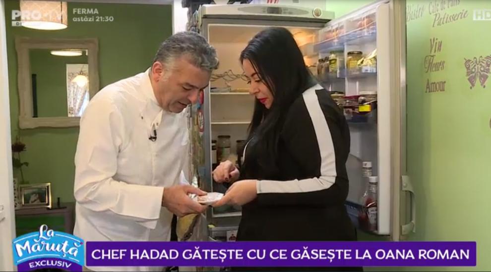 VIDEO Chef Hadad gătește cu ce găsește la Oana Roman