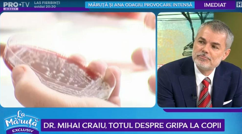 VIDEO Medicul Mihai Craiu, totul despre gripa la copii